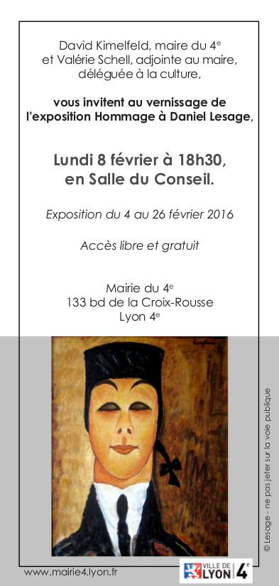 INVITATION - Exposition Daniel LESAGE 2