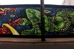 Street art : «Fresque à Lima» (par Spone)