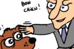 Crabouillons du jour : «Le syndrome de la page blanche», » Macron adopte un… journaliste», et «Un ptit job à Barcelone» (par Bib'S et Piero)