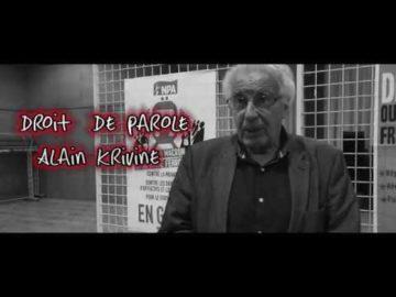 Droit de parole -Alain Krivine-