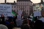 Photos d'un jour : Rassemblement Place Bellecour en soutien des habitants d'Alep (par Keul)