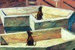 """Les œuvres du jour : """"Sorties de secours"""", """"Crazy Legs"""" et """"Œuvre sans titre"""" (par Ivan Brun, Frédéric Wieme et Robin Chuter)"""