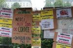 Brève en images : Les Gilets Jaunes de Lyon apportent leur soutien aux soignants (par NB)