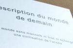 """Livre : """"Description du monde de demain""""un monde sans monnaie ni troc (par Marc Chinal et  Jean-François Aupetitgendre)"""